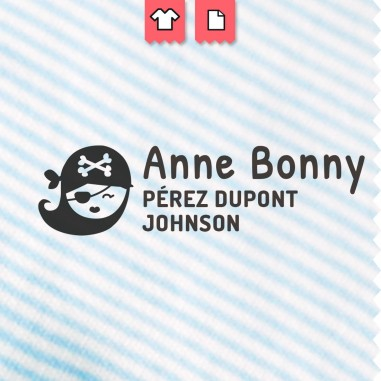 Sello para marcar la ropa Anne Bonny - Pirate - Pirata
