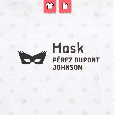 Sello para marcar la ropa Mask - máscaras - masques