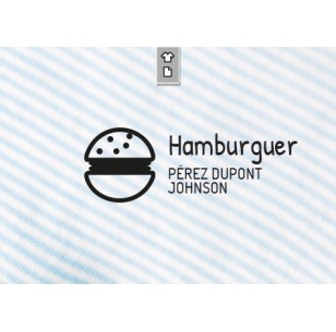 Sello marca ropa Hamburger